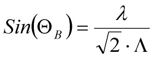 2D Bragg angle equation