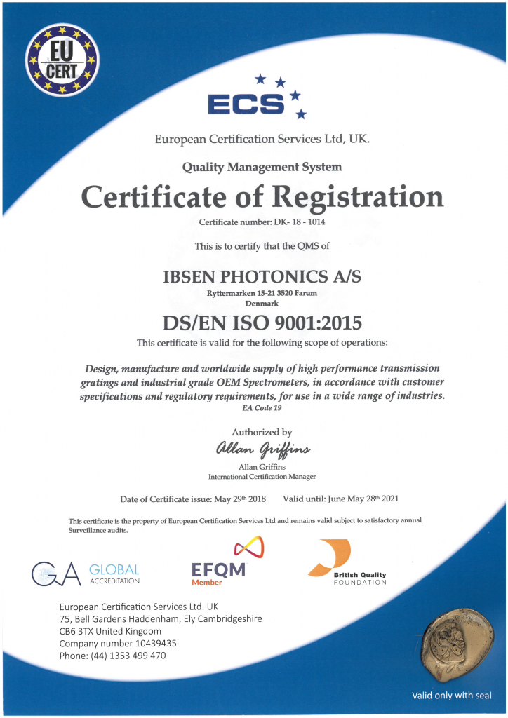 ISO 9001:2015 Certificate of Registration