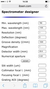 Spectrometer designer